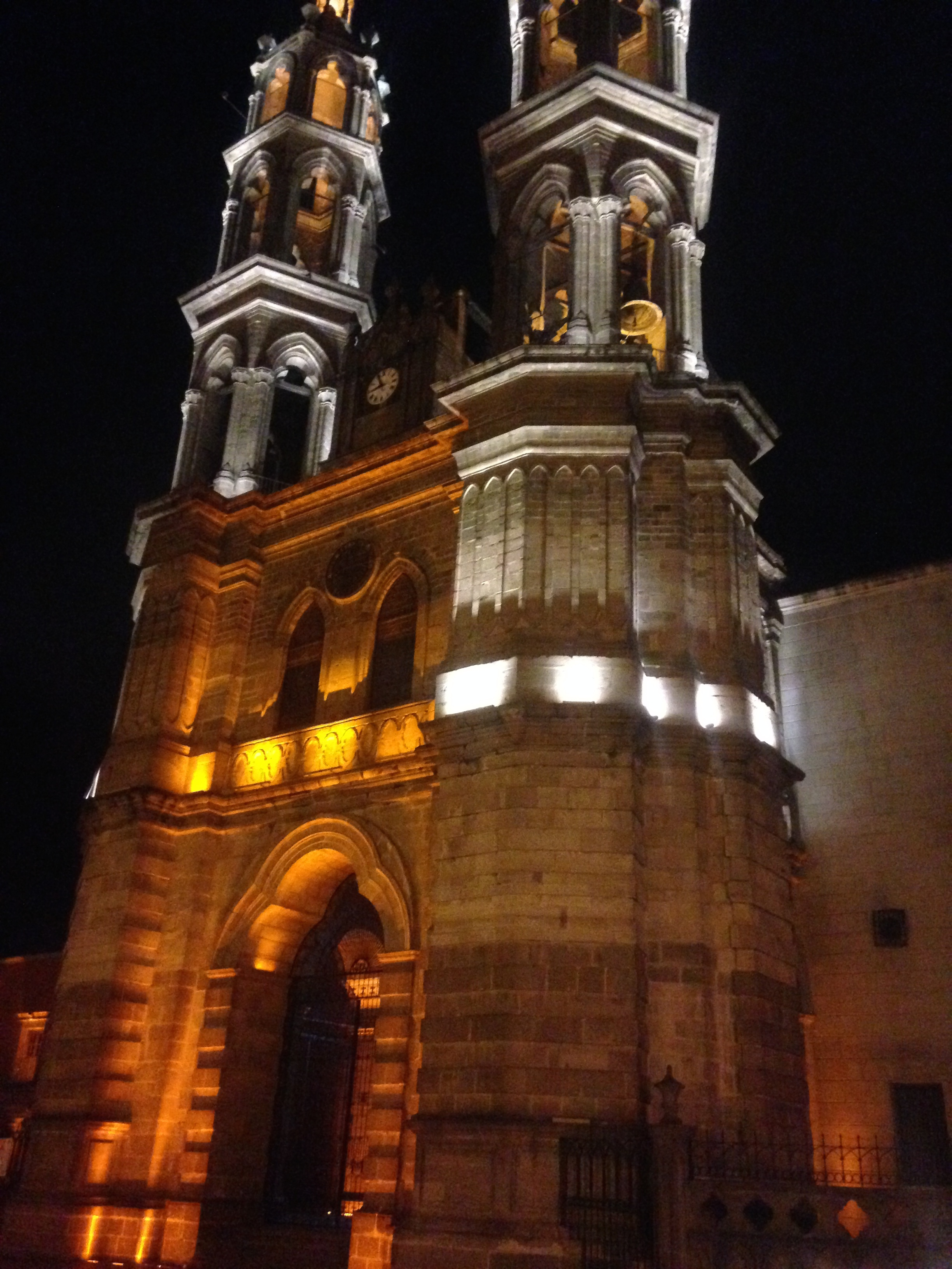 Tepic Cathedral at night