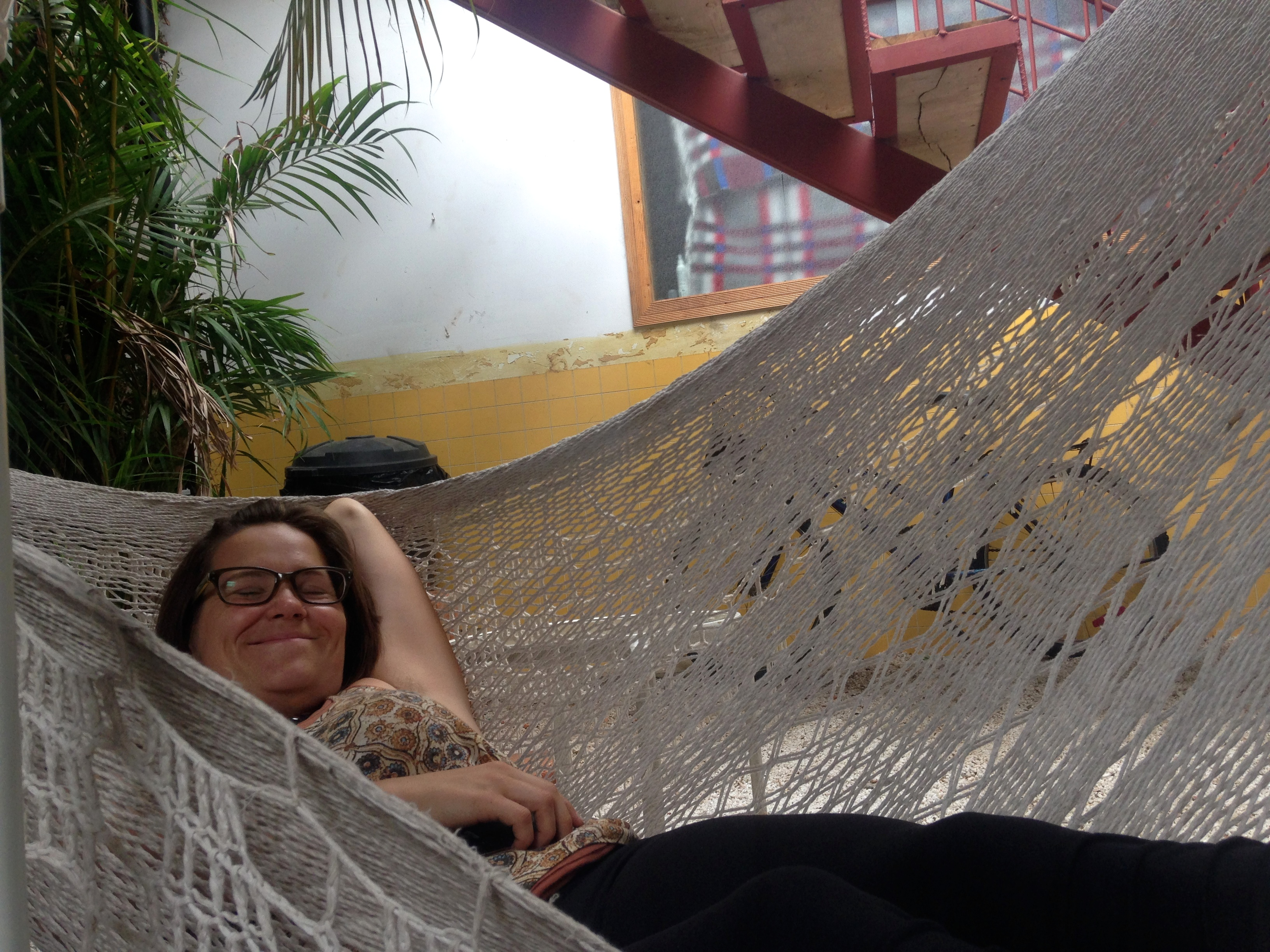 We spent many hours in the hammocks