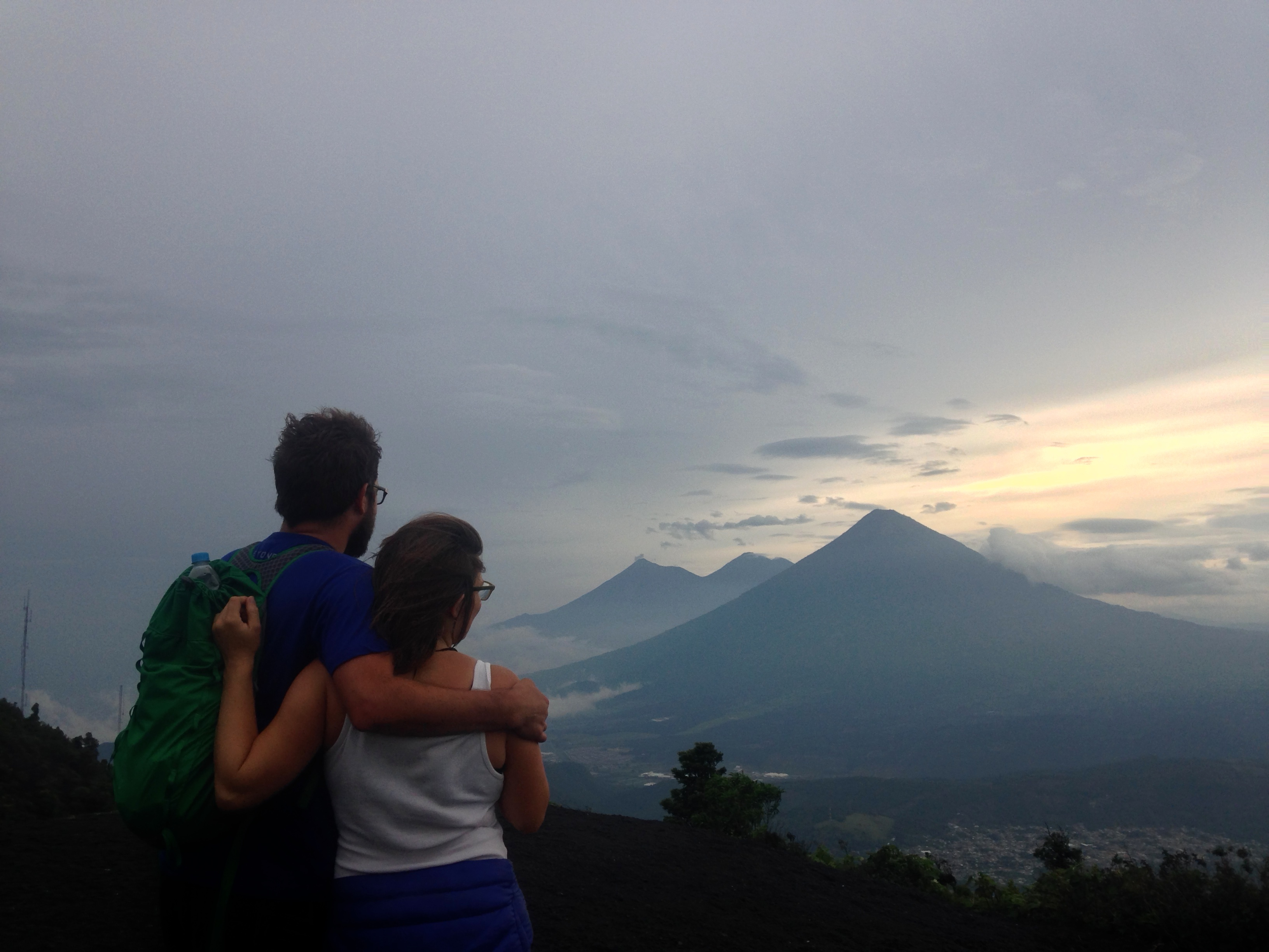 View of the other three volcanos, Fuego, Agua, and Acatenango
