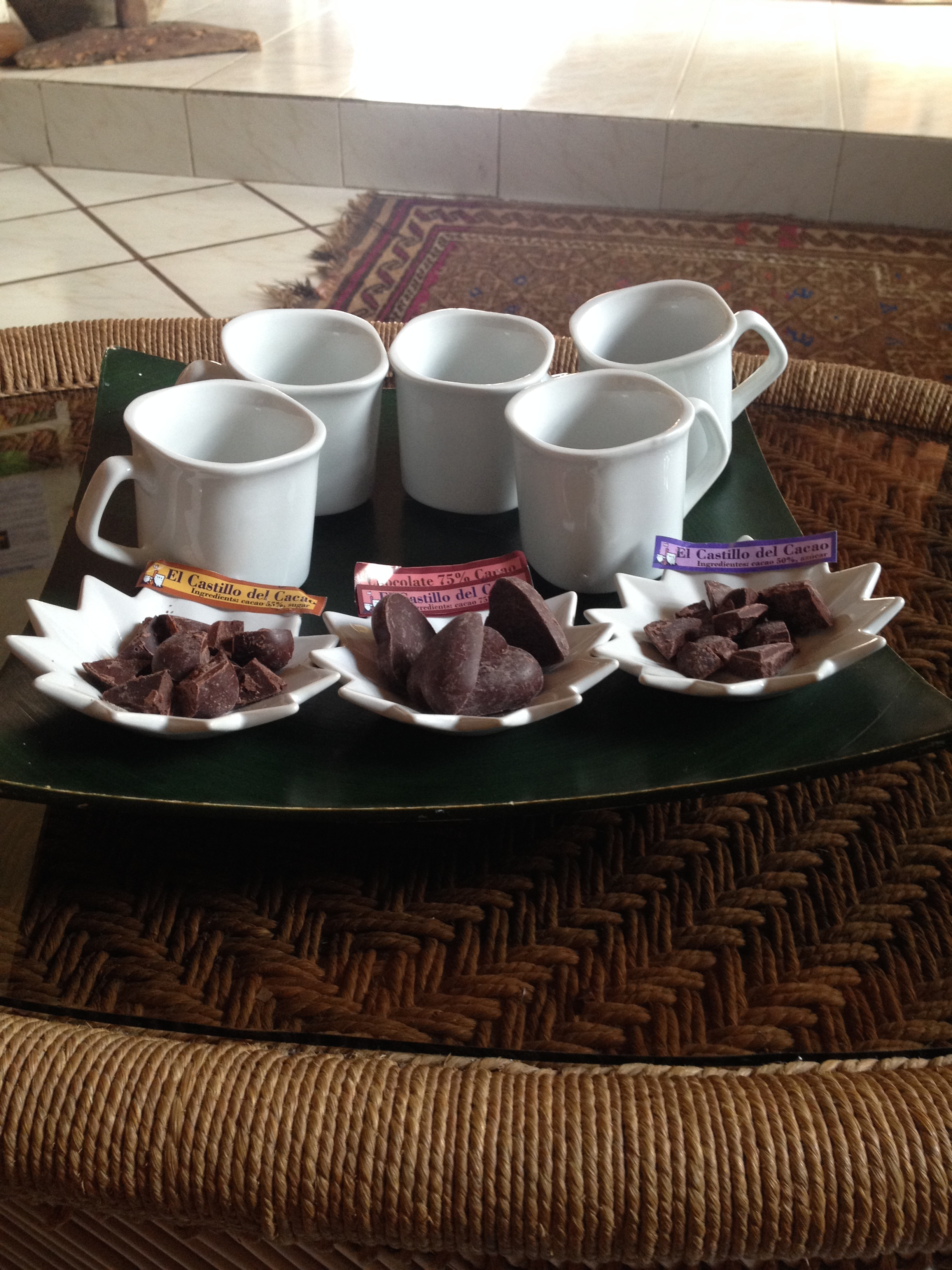 Chocolate tasting and coffee