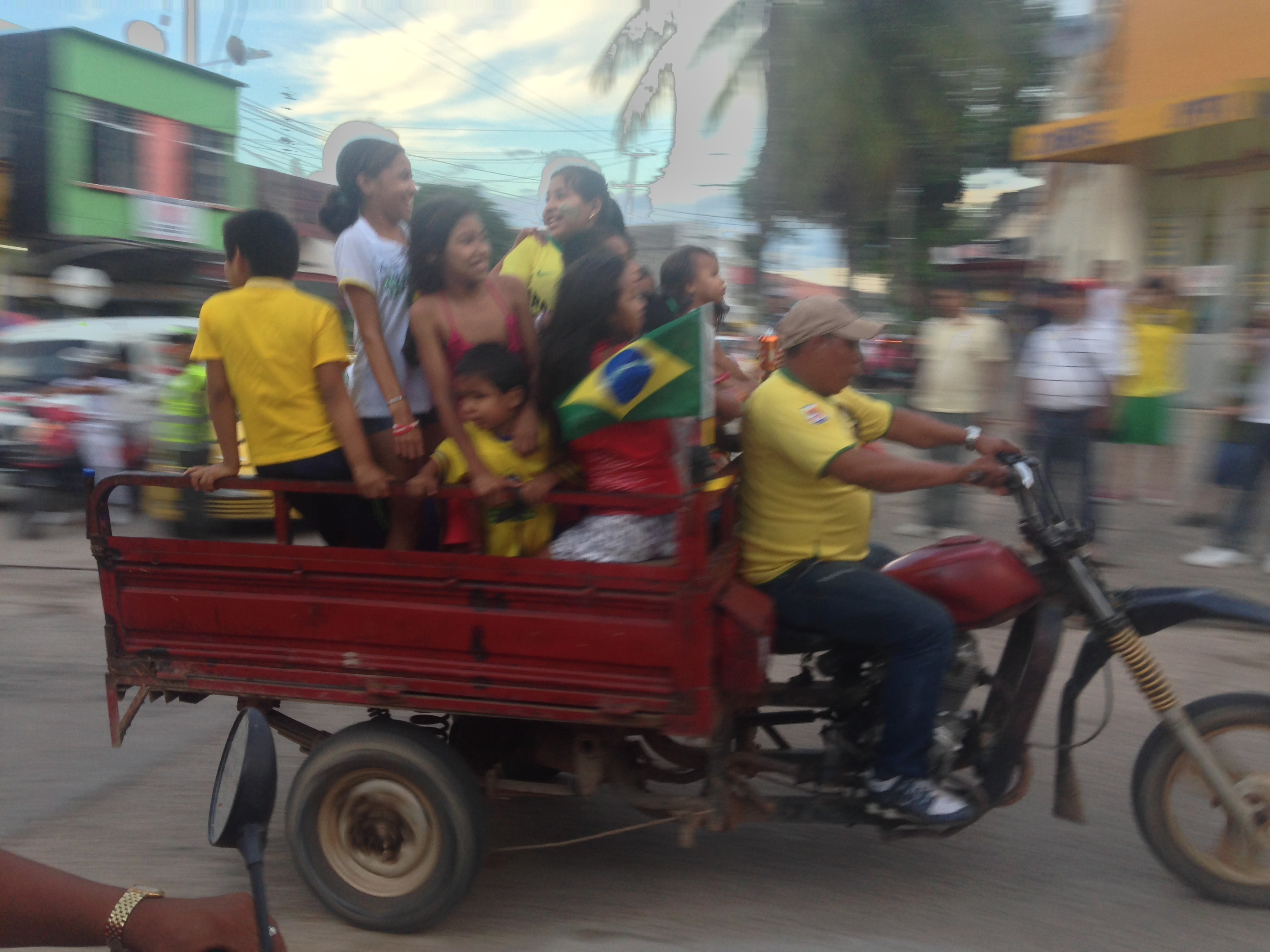the impromptu parade after Brazil won their first game