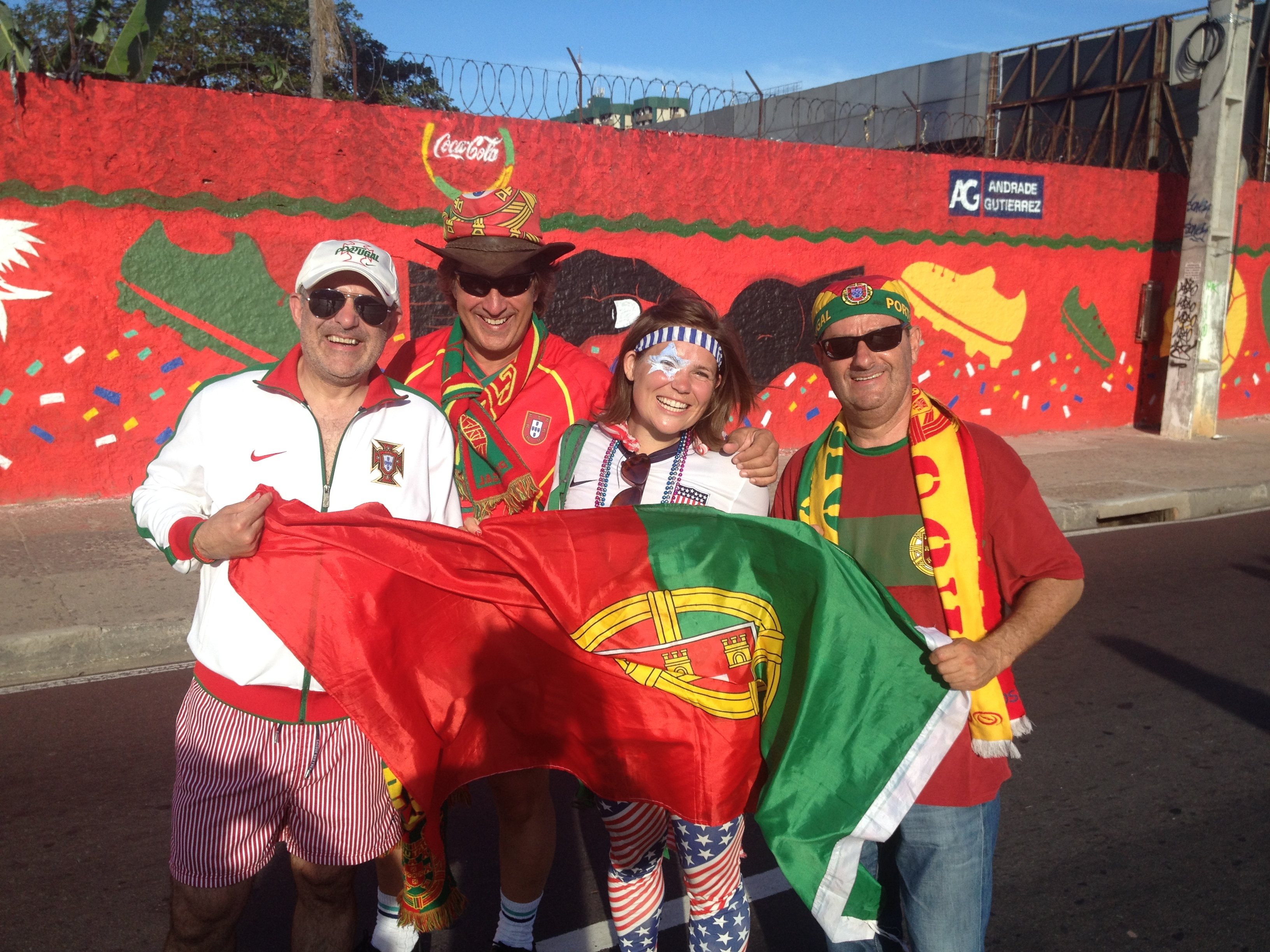 Me with some Portugal Fans