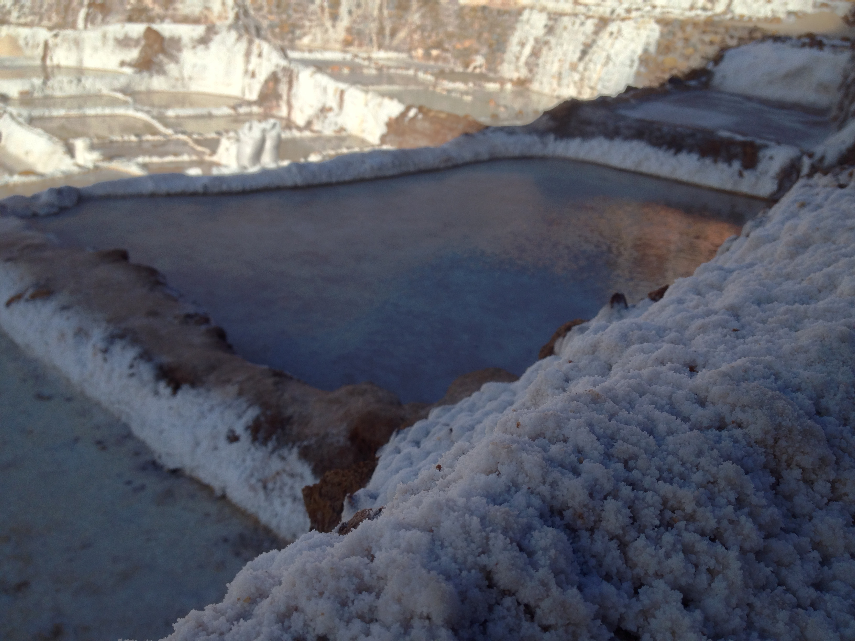 Thes salt ponds have been around for hundreds of years, all this salt comes from the smallest salty stream